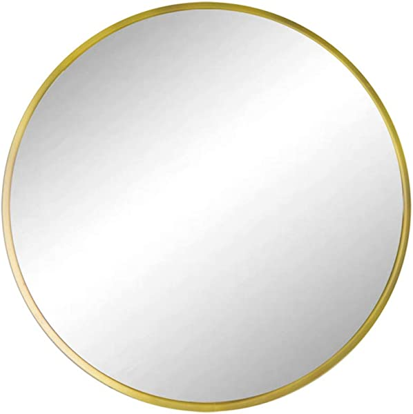 Huimei2Y Circle Mirror With Metal Frame 19 7 Inch Round Wall Mirror For Entryway Living Room Bathroom Bedroom Gold