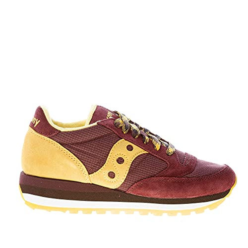 Saucony Donna Sneaker Jazz Triple in camoscio e Tessuto Tecnico Marrone più Oro Color Marrone Size 37
