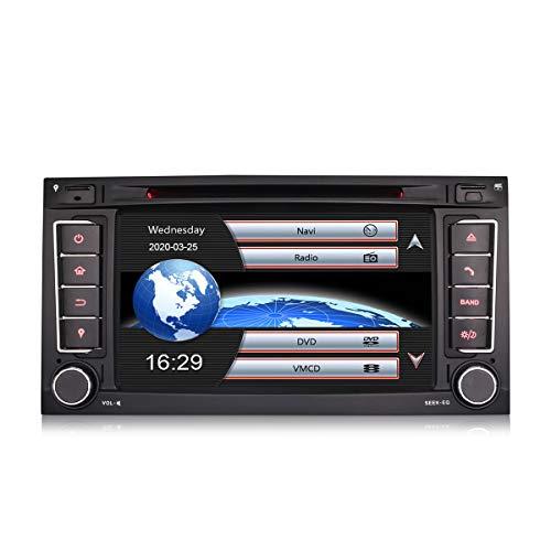 Erisin 7 Zoll Autoradio für VW Touareg T5 Transporter Multivan Multimedia Player mit USB SD Navi Unterstützt Bluetooth 3G DVD DVR Lenkradfernbedienung Radio DTV