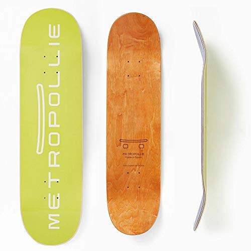 Metropollie Tabla de Skate Neón, Skate para Niños Niñas Adolescentes Adultos Principiantes, Tabla de 7 Capas 100% Madera de Arce Canadiense Hard Rock, 8.125 Pulgadas, TABLANEON8125