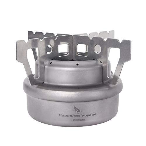 iBasingo Titanium Spirit Stove Camping Alcohol Heater with Holder Mini Stove...