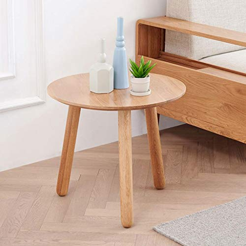 Huahua Chair Bijzettafel, eindstafel, salontafel van massief hout bijzettafel Nordic Moderne hoekbank tafel rond Oak End nachtkastje voor woonkamer