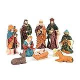 SHATCHI Holy - Juego de 10 figuras movibles para decoración de cuna de Navidad, diseño de nacimiento de...