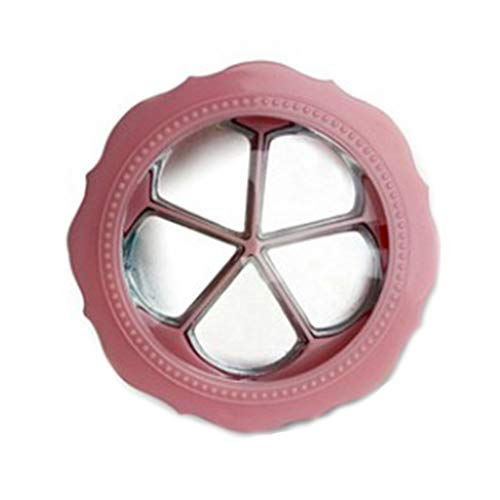 Haptian Flower Shape Lege Lippenstift Oogschaduw Palet Case Met 5 Grids Pans Spiegelborstel Geperst Poeder Make-up Container Organizer Box
