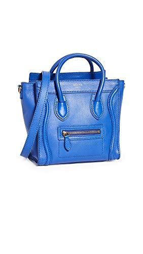 What Goes Around Comes Around Women's Celine Blue Smooth Luggage Nano, Blue, One Size