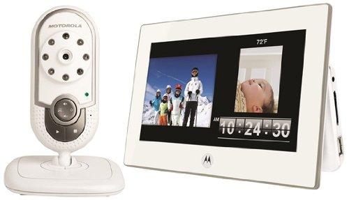 Motorola Babyphone MFV700, incl. Display, bianco - Digital DECT Baby Monitor