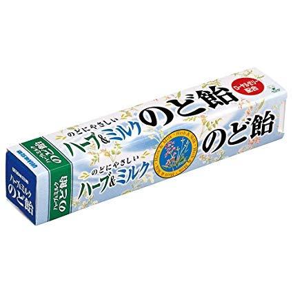 味覚糖 ハーブ&ミルクのど飴スティック 10ツブ×3袋