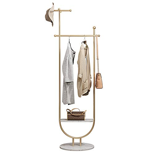 XI FA Clothing display rack Stand - Vintage Coat Stand- Clothes Hat Rack Shelf Shoe Coat Rack Stand, Free Standing Hall Tree, Coat Stand with Removable Hooks, Bench and Shoe Rack