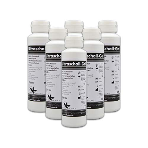 Ultraschallgel | KK Kontaktgel | Sonogel | 6 x 250 ml Flasche