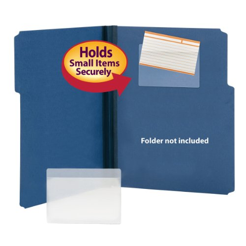 Smead Self-Adhesive Poly Pocket, Index Card Size, Clear, 100 per Box (68153)