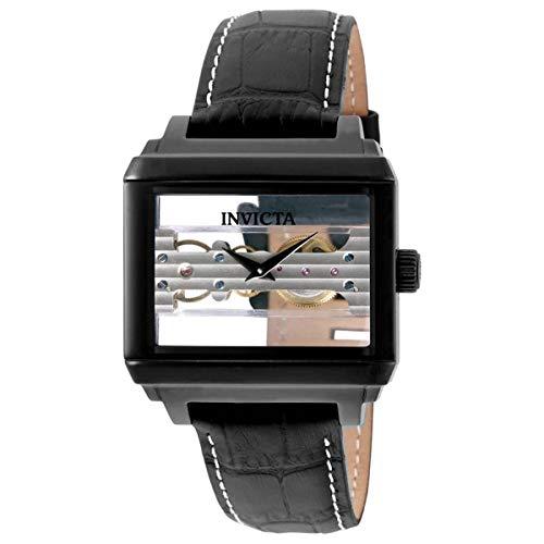 Invicta Objet D Art Hand Wind 32173 Reloj de hombre con esfera negra