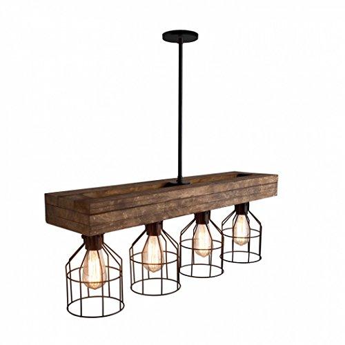32' Pendant Lighting Chandeliers Kitchen Aged Wood Farmhouse Lighting...