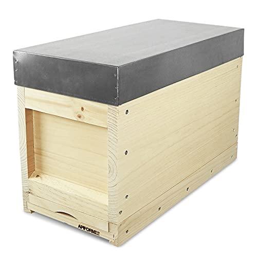 APIFORMES Ableger Zander ZN aus Massivholz Zarge+5 Rähmchen+Futterzarge+Dach Imkereibedarf Imkerei Bienen Haus