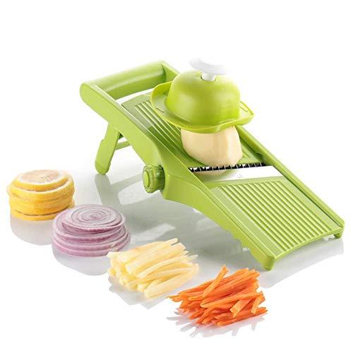 LLG-QPJ Verstellbarer Geschnittener Gemüseernter Mandala Kartoffelschneider - Zwiebelring, Pommes Frites und Pommes Frites Verstellbarer Wok - Gemüsehacker Spiralgeschnittener Gemüseschneider