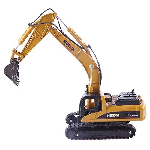 Seciie Bagger Spielzeug, 1:50 Bagger-BAU-Spielzeug-Traktor Minibagger aus Metall und Kunststoff, Baufahrzeuge Spielzeug für Kinder ab 3 Jahre