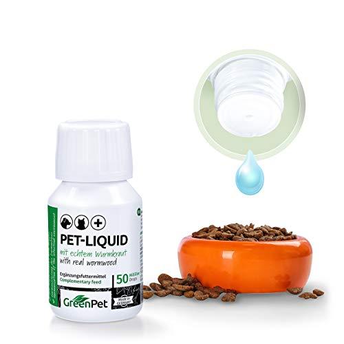 GreenPet 100% natürliches Wurm Pet-Liquid Tropfen Flüssig 50ml - Hunde, Katzen, Geflügel, Vögel, Kaninchen und Haustiere, Vor und bei Wurmbefall - 2