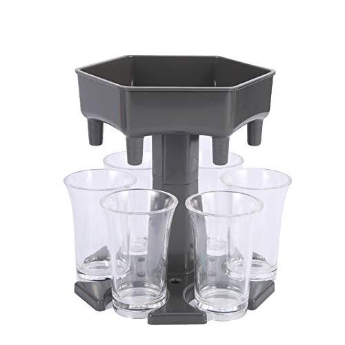 iFCOW Dispensador de Bebidas Dispensador de Copas de Vino Juego de Beber de Plástico Dispensador de Vasos de Cerveza con Vasos