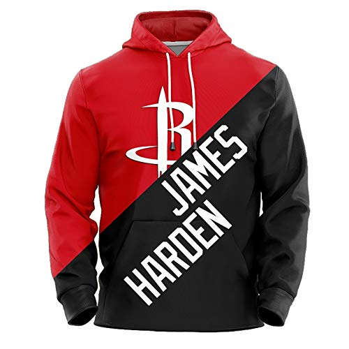 James Harden No.13 Houston Rockets Couples Basketball Hoodie Unisex Pop Long Sleeve Pullover Sweatshirt (Color : A, Size : XS)