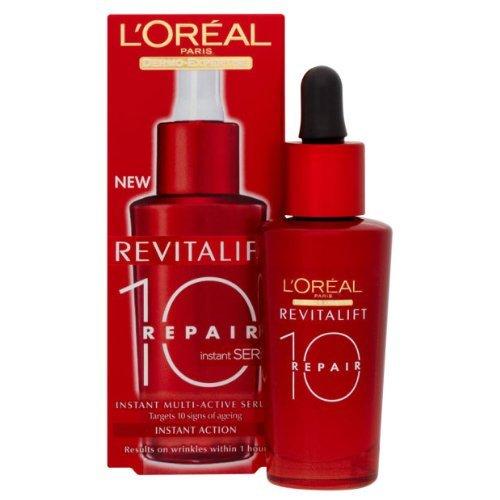 Flacon de 30 ml de soin hydratant L'Oréal Dermo-expertise Revitalift total repair 10