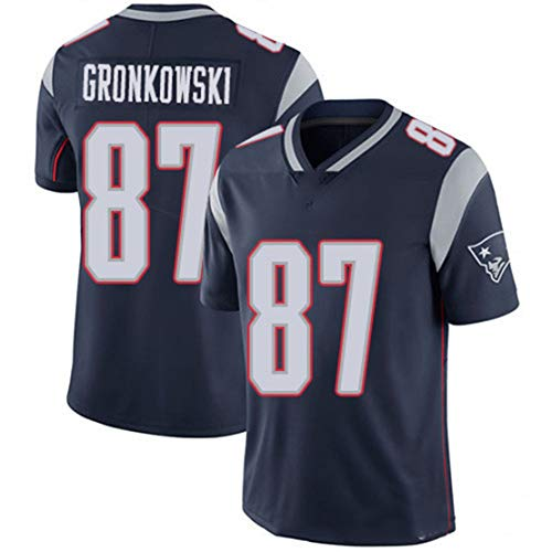 Carrey NFL Jersey, camiseta de fútbol Versión Fan Jersey, logotipo bordado, poliéster manga corta