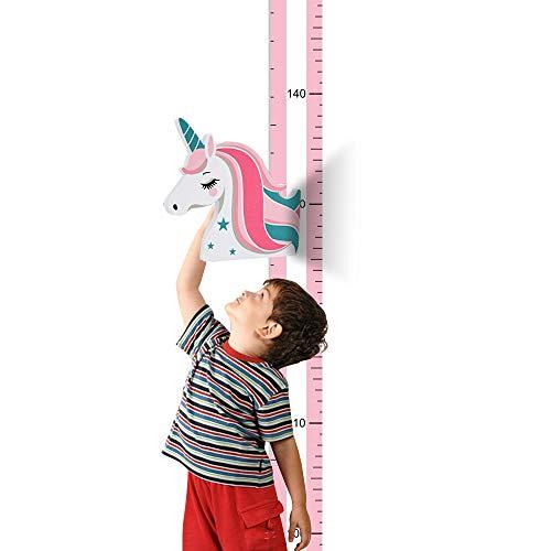 UCMD Tabla de altura magnética, regla de medición de altura para niños, regla de crecimiento de animales de unicornio, regla, decoración de pared para habitación de niños