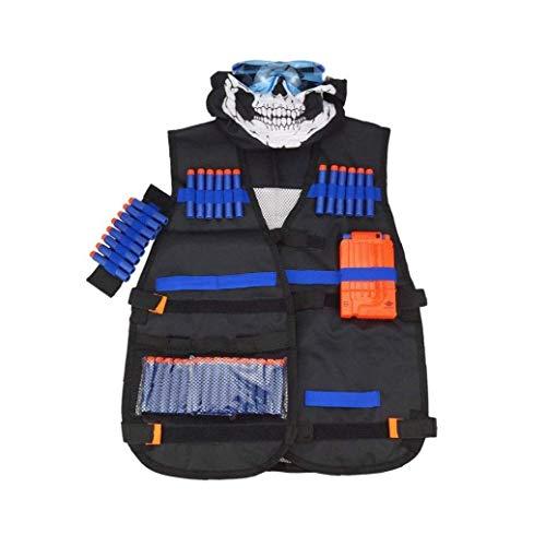 NaisiCore geschickte Weste Kit für Kinder 8-Dart-Handgelenk-Band 20PCS Foam Dart Einschuss Seamless Gesicht HESD Schild Goggle Reload Baby-Versorgungs Clip