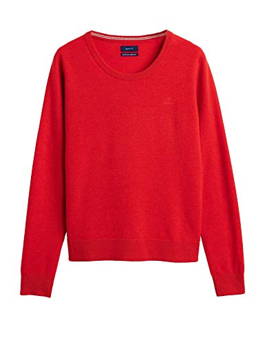 GANT Superfine Lambswool Crew Womens Knits Small Red