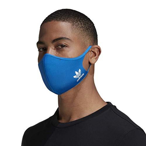 adidas Originals Standard Face Covers 3-Pack, Bluebird, Medium/Large