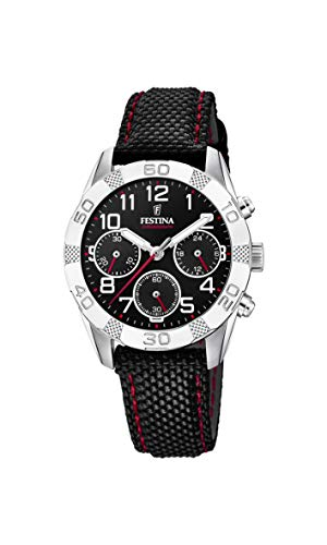 Festina Jungen Chronograph Quarz Uhr mit Stoff Armband F20346/3