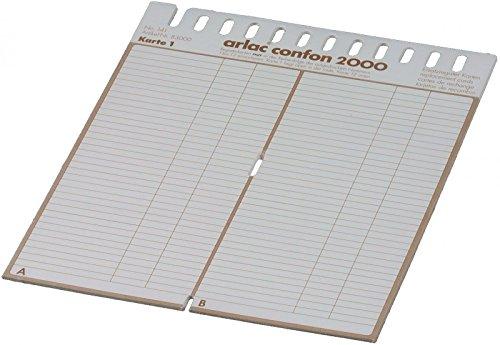 arlac 0830 Ersatzregister und Zwischenblattgarnituren Confon 2000