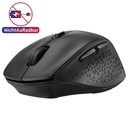 VicTsing Funkmaus, 2.4G Maus Kabellos Laptop Maus Wireless mit 5 Einstellbare DPI / 6 Tasten, Schnurlose Mäuse 90% Geräuschreduzierung für PC, Tablet, Computer, Notebook(Nicht Wiederaufladbar)