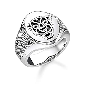 Thomas Sabo Unisex-Ring Black Cat 925 Sterlingsilber TR2273-698-11-66