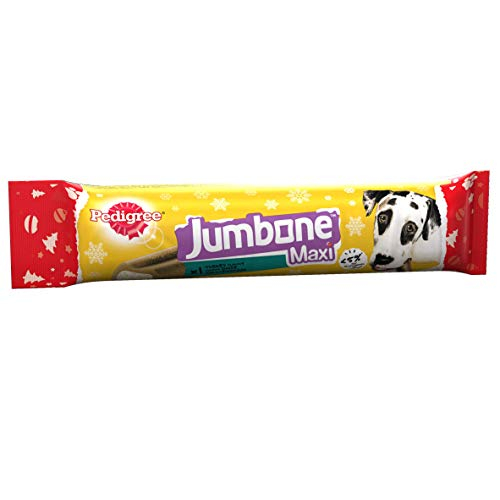 Pedigree Christmas Gift Jumbone Dog Treats, Chews for Large Dogs from 25 kg+, Xmas Gift with Turkey Flavour, 12 Chews, 2.16 kg