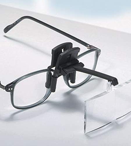 KIKAR Clip on Magnifier with 4 Interchangable lenses, Hard Case