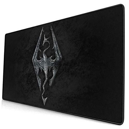 Elder Sc-roll 5 Skyrim-1,Extended Gaming Mouse Pad,Extra Large XXL Mouse Pad Mat (29.5' X 15.8'),Anti Slip Neoprene Base,Long Mousepad,Stitched Edges,for Gaming/E-Sports/Keyboard
