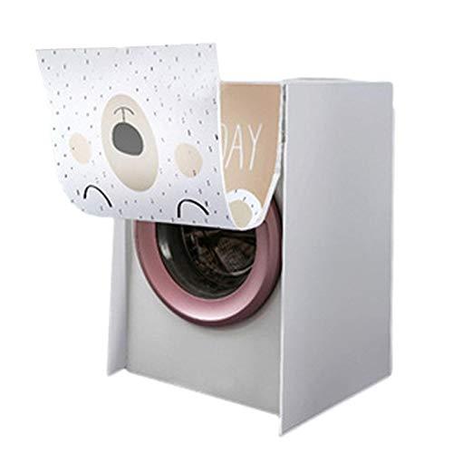 Palatable Funda para lavadora de carga frontal, impermeable, se adapta a la mayoría de lavadoras y secadoras de carga frontal