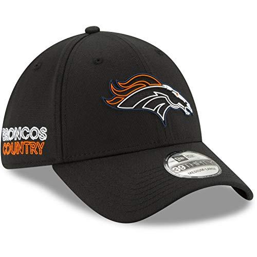 New Era - NFL Denver Broncos 2020 Draft Official 39Thirty Stretch Cap - Schwarz Farbe Schwarz, Größe M-L