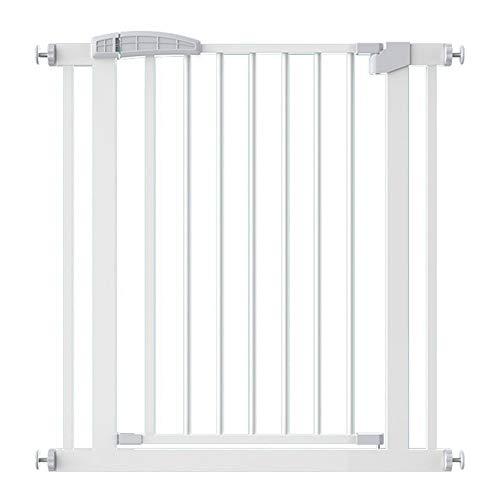 Barrera de Seguridad Extensible, Metálica Puerta de Seguridad Puerta for Niños Extra Alta Y Ancha, for Las Puertas de Las Escaleras de La Casa (Color : White, Size : 201-208cm)