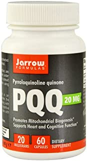Jarrow Formulas Pyrroloquinoline Quinone Nutritional Supplements, 20 mg, 60 Count