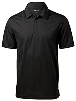 SPORT-TEK Men s PosiCharge Active Textured Polo XL Black
