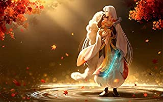 TianSW Inuyasha Sesshomaru (22inch x 14inch/56cm x 35cm) Waterproof Poster No Fading Christmas Best Gift for Children