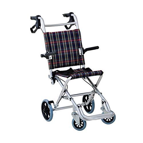 BJYG Rollstuhl Falten Ultraleicht Tragbare Kind Ältere Roller Reise Flugzeug Trolley (Farbe: A)
