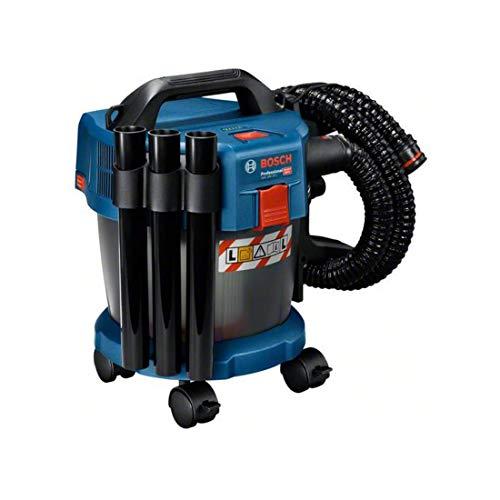 Bosch Professional 18V System aspirador para seco/húmedo a batería GAS 18V-10 L, sin baterías ni cargador, incl manguera 1,6 m, tubo acodado, 3 tubos de aspiración, 4 ruedas y más