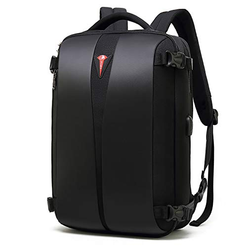 CoolBELL Lightweight Waterproof Backpack with USB Charging Port City and Anti-Theft for Laptop 15,6 inch Black-TLS
