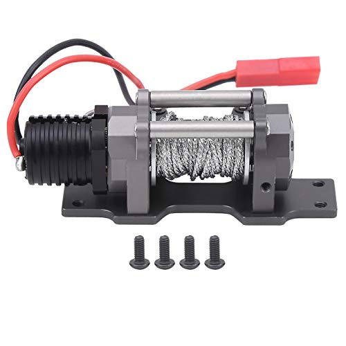 6V-7.4V 65x28x22mm 1/10 RC Car Winch, Single Motor Winch, para SCX10 90027 90035 1/10 RC Car Model Uso en Exteriores