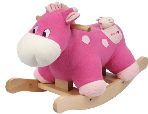 knorr-baby 60014 - Schaukelspielzeug, Schaukelnilpferd Grace