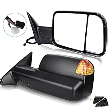 ECCPP Towing Mirrors fit for 2009-10 for Dodge for Ram 1500 2011-2016 for Ram 1500 2500 3500 Pickup Signal Lights Pair Power Heated Passenger & Driver Side Side Mirrors