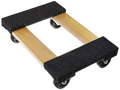 """50-5401 TruePower 18"""" X 12"""" Mover's Dolly, 1000lbs Furniture Appliance, 4 x 3"""" Rubber Swiveable Casters"""