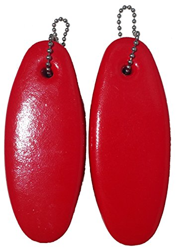 2 Pack Jumbo Vinyl Coated RED Floating Keychain, Best Gifts For Boaters