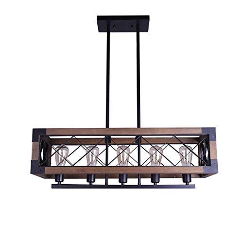 . Lámparas de madera, candelabro industrial vintage de madera, lámparas de madera de restaurante.